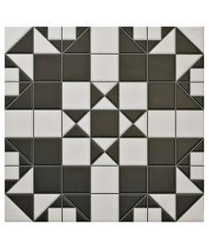 Victorian B&W Mosaic Effect