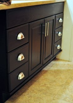 How to DIY your oak cabinets from golden to espresso