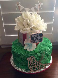 Rosette themed Happy Birthday Cake