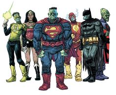 The Multiversity: Earth X - Earth-30 - Bizzaro by Declan Shalvey, colours by Jordie Bellaire *
