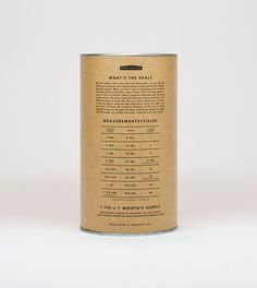 regular coffee's hilarious packaging copy // via thedieline