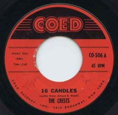 "10 Best Birthday Pop Songs: The Crests - ""16 Candles"" (1958)"