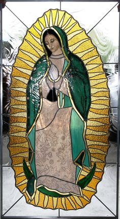 Little Office of the Blessed Virgin Mary Faux Stained Glass, Stained Glass Designs, Catholic Art, Religious Art, Catholic Crafts, Sainte Marie, Mirror Painting, Blessed Virgin Mary, Glass Wall Art