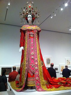 Cecil Beaton: the blood-red costume worn by Birgit Nilsson as the homicidal Chinese princess in his production of Puccini's Turandot