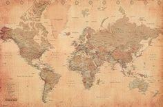 World Map (Vintage Style) Art Poster Print - 24x36 Poster Print  36x24 Collections Poster Print  36x24: http://www.amazon.com/World-Vintage-Style-Poster-Print/dp/B001Q4YFJG/?tag=utilis-20