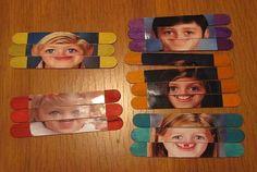 Popsicle stick face puzzles!