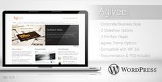 Agivee - Corporate Business Wordpress Theme Agivee is Wordpress Theme is suitable for your company website, looks more elegant and simple to make your image company is professional. Easy to customize and rich of features.