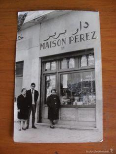 ANTIGUA FOTOGRAFIA TIENDA MAISON PEREZ PROTECTORADO ESPAÑOL EN MARRUECOS - Foto 1