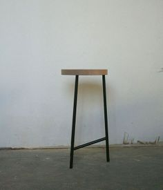 Wood Top Stool