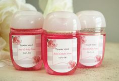 Personalized hand sanitizer favor labels Baby shower favor