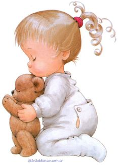 Girl with teddy - Ruth Morehead Baby Pictures, Cute Pictures, Cute Kids, Cute Babies, Art Mignon, Sarah Kay, Bear Toy, Cute Images, Vintage Cards