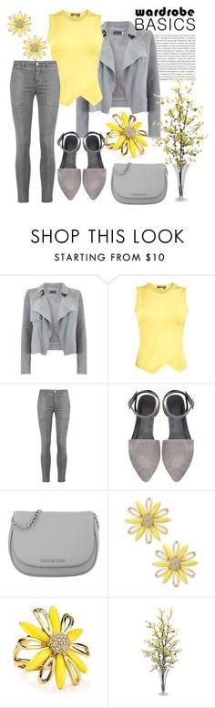 """Wardrobe Basics: Spring Jacket"" by pixidreams ❤ liked on Polyvore featuring Oris, Mint Velvet, Pilot, Current/Elliott, Michael Kors, Kate Spade, Nearly Natural and wardrobebasics"