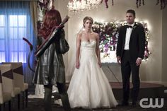 """#Arrow 4x16 """"Broken Hearts"""" - Carrie Cutter/Cupid, Felicity and Oliver"""