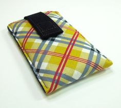 iPhone 5 case iPhone 5 sleeve iPhone5 cover - Plaid in yellow blue red white green
