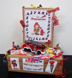 Schultüten - Geschenk zur Einschulung/ Junge, Feuerwehr - ein Designerstück von Marie-Carolin bei DaWanda