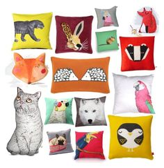 Animal scatter by blackserpent on Polyvore featuring polyvore, interior, interiors, interior design, home, home decor, interior decorating, Donna Wilson, Silken Favours, M&Co, Yves Delorme and Carola Van Dyke