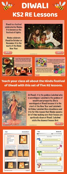 Use this Diwali KS2 lesson planning pack to teach your children all about the traditions, stories and celebrations relating to Diwali. Your class will have the chance to hear the story of Rama and Sita, find out why divas are lit at Diwali, what the significance of rangoli patterns is, and how Hindu families celebrate this festival! Each of the five lessons is ready-to-teach, with a detailed plan, a set of slides for the whole-class teaching input, and differentiated activity ideas. Learning Time, Learning Activities, Hindu New Year, Diwali Cards, Slideshow Presentation, Pattern Worksheet, Preschool Christmas Crafts, Rangoli Patterns, Diwali Celebration