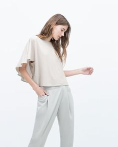 Image 3 of DOUBLE LAYER T-SHIRT from Zara