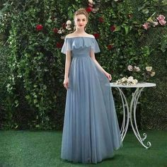 Blue party dress off shoulder evening dress tulle long prom dress backless formal dress sold by Pretty Dress. Shop more products from Pretty Dress on Storenvy, the home of independent small businesses all over the world. Bridesmaid Dresses 2017, Backless Prom Dresses, Blue Bridesmaids, Lace Evening Dresses, Modest Dresses, Blue Party Dress, Wedding Party Dresses, Off Shoulder Evening Dress, Shoulder Dress