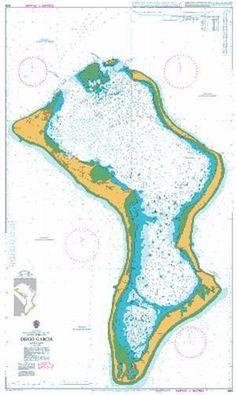 British Admiralty Nautical Chart 920: Indian Ocean, British Indian Ocean Territory, Chagos Archipelago, Diego Garcia Diego Garcia, British Indian Ocean Territory, Nautical Chart, Military Personnel, United Kingdom, Graphic Art, Maps, Archipelago, Cairns