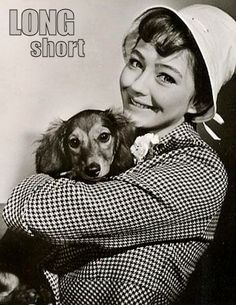 The Long and Short of it All: A Dachshund Dog News Magazine: Dachshunds in Pop Culture: Christine Kaufmann Celebrity Dogs, Celebrity Pictures, Dog Heaven, Wire Haired Dachshund, Dachshund Love, Perfect Woman, Popular Culture, Time Travel, Dog Love
