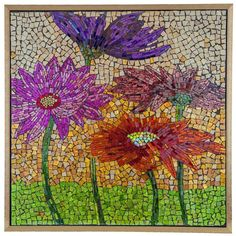 15146 Blooming Flowers Mosaic Glass Art by River of Goods | 27.5 inches                                                                                                                                                                                 More