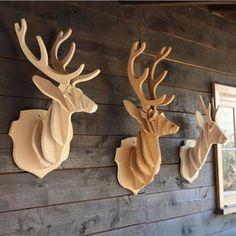 Plywood reindeers
