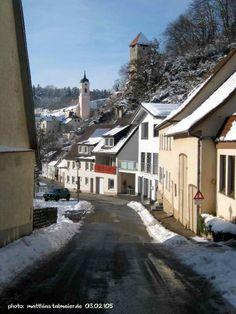 Rechtenstein-Center - Winter Impression (03.02.2015) Shops, Mansions, Landscape, Street, House Styles, Winter, Places, Home Decor, Winter Time
