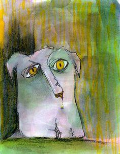 Green Dog by Carla Sonheim, via Flickr