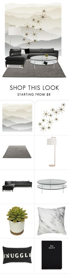 """""""Home sweet home"""" by haleycookie ❤ liked on Polyvore featuring interior, interiors, interior design, home, home decor, interior decorating, York Wallcoverings, Global Views, &Tradition and Arteriors"""