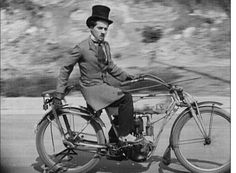 Chaplin on a motorcycle. This is the most b.a. pic of C.C. I've ever seen.