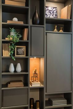 Home library furniture ikea billy ideas - Thuisdecoratie Home Library Design, Home Office Design, Home Office Decor, Home Interior Design, House Design, Home Decor, Library Ideas, Interior Livingroom, Muebles Home