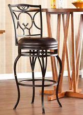 Wayfield Dark Champagne Finish Metal Swivel Bar Stool Chair by SEI