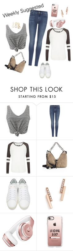 """""""Weekly Suggested"""" by goldengryffindorgal ❤ liked on Polyvore featuring WithChic, 7 For All Mankind, Superdry, Jimmy Choo, Yves Saint Laurent, ZoÃ« Chicco, Beats by Dr. Dre and Casetify"""