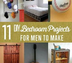 DIY Bedroom Projects for Men • Wooden Look - Wedding, Birthday, Unique Furniture & Home Decor Wooden Look – Wedding, Birthday, Unique Furniture & Home Decor