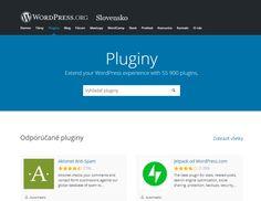 Čo je to WordPress plugin? Ako ho nainštalovať? • jurosko.sk Website Security, Security Tips, Premium Wordpress Themes, Wordpress Plugins, Blogging For Beginners, The Secret, Web Design, Essentials, Teaching