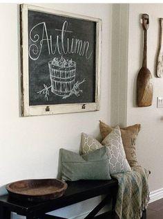 Classic nest interiors autumn chalkboard
