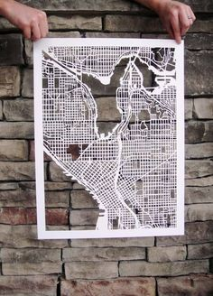paper cutting map of Origami, Om Mani Padme Hung, Paper Cutting, Laser Cut Paper, Paper Art, Paper Crafts, Map Design, Illustrations, Planer