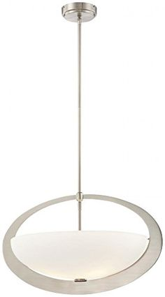 George Kovacs P904-084, Earring Bowl Pendant, 3 Light, Brushed Nickel