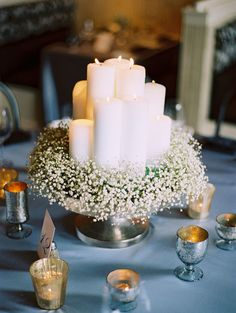 #centerpiece, #candle  Photography: Leo Patrone Photography - www.leopatronephotography.com Wedding Planning: Meredith Parsons of Bluebird Events - www.bluebirddmc.com  Read More: http://www.stylemepretty.com/2011/04/21/utah-wedding-by-leo-patrone-photography-bluebird-events/