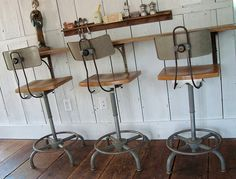 Stools and bar