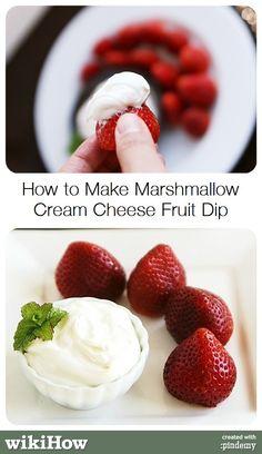 How to Make Marshmallow Cream Cheese Fruit Dip #food #dessert