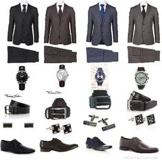 Must-have basics for any man's closet! by wizard_swagg1234 #mensfashion2013 #mensbasics #suits