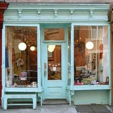 Little French shop; any shop painted aqua just has to be interesting!  Compliments of Estate ReSale & ReDesign, Bonita Springs, FL