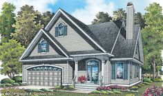 New Plan - Now Available! The Pennington #1274. A two-story Cottage with the master bedroom on the first floor and two additional bedrooms upstairs. http://www.dongardner.com/plan_details.aspx?pid=4098. #NewPlan #Cottage #TwoStory