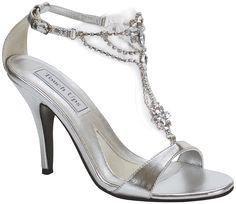 Silver Low Heel Dress Shoes  Diane Silver Strappy Low Heel Wide