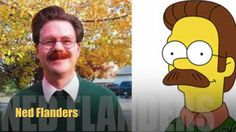 A few real life people that look like Simpsons characters Photos) We Love Minions, Ned Flanders, Realistic Cartoons, Simpsons Characters, Writing Prompts For Kids, Smosh, Homer Simpson, Tv On The Radio, Cartoons