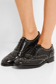 Church s - The Burwood Met studded glossed-leather brogues 75e48ae5344d