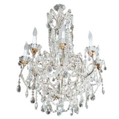 Eight Arm Crystal Chandelier   From a unique collection of antique and modern chandeliers and pendants  at https://www.1stdibs.com/furniture/lighting/chandeliers-pendant-lights/