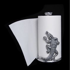 Gator ~ Paper Towel Holder by Arthur Court